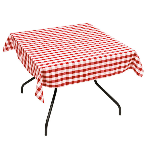 "10 Pcs 52"" x 52"" Square Polyester Plaid Dinner Tablecloth"