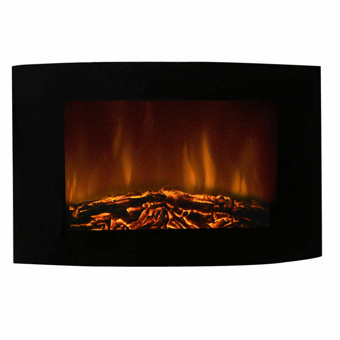 "35"" Electric Wall Mount Fireplace Heater with Remote"