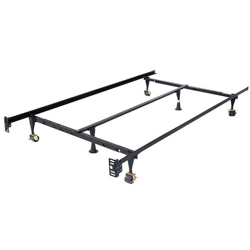 Size Adjustable Steel Bed Frame with Casters