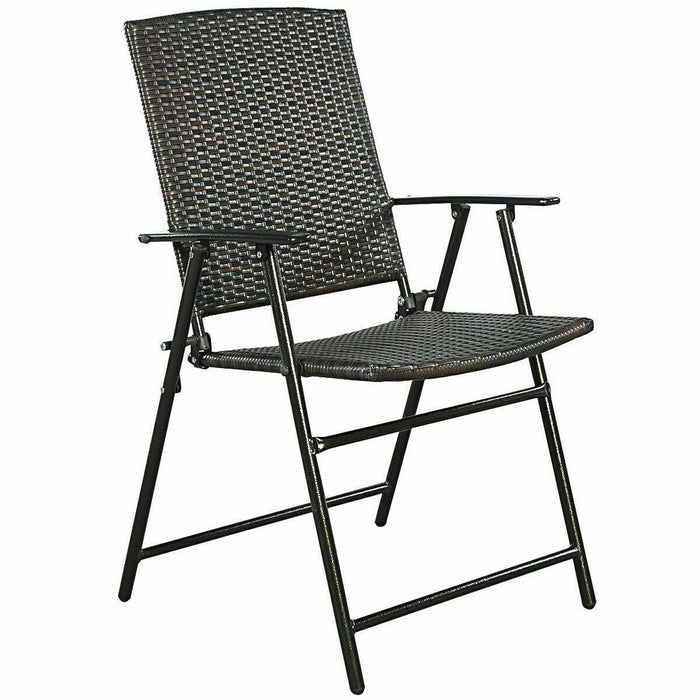 Set of 4 Rattan Folding Chair