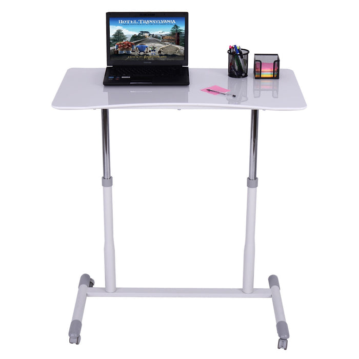 Height Adjustable Computer Desk Sit to Stand Rolling Table