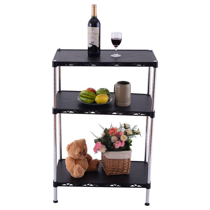 3-Tiers Adjustable Storage Rack Display Shelf