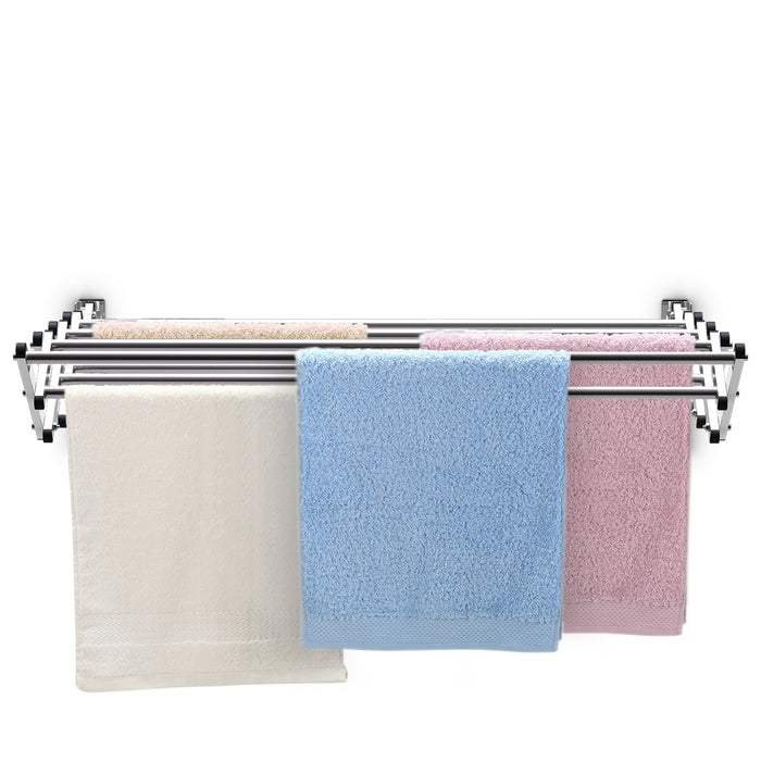 Stainless Wall Mounted Expandable Clothes Drying Towel Rack