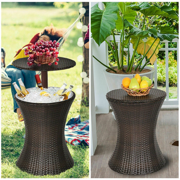 Adjustable Outdoor Patio Rattan Ice Cooler