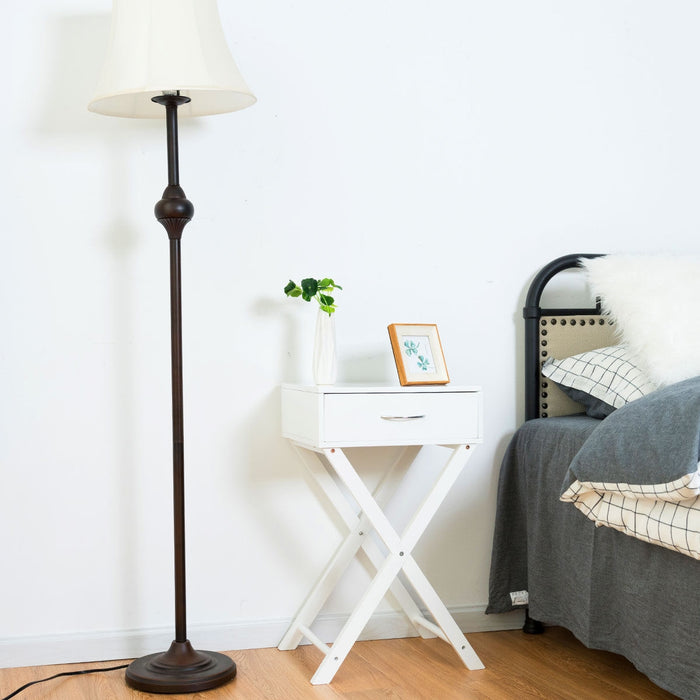 Modern X-Shape Accent Side End Table
