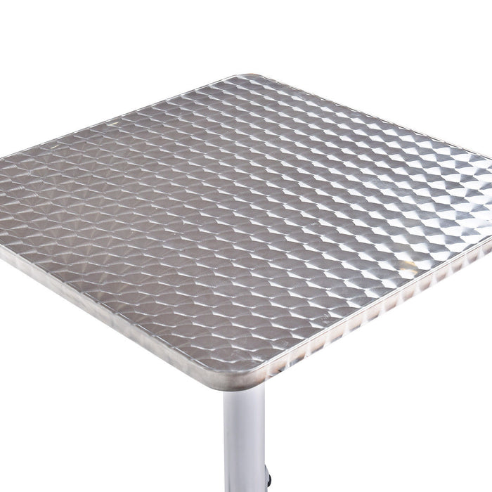 "23 1-2"" Stainless Steel Aluminium Square Cafe Bistro Table"