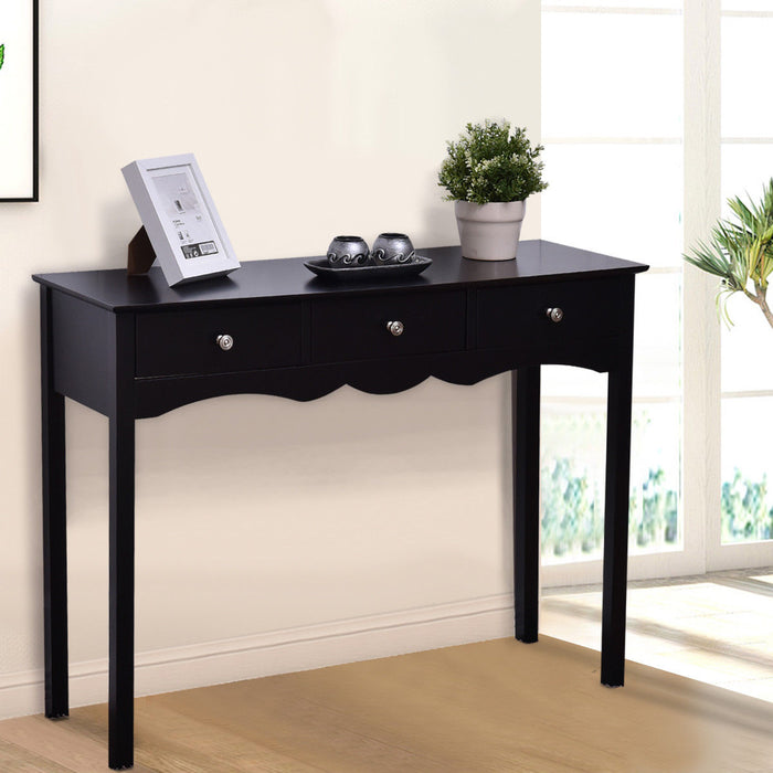 Hall table Side Table w- 3 Drawers