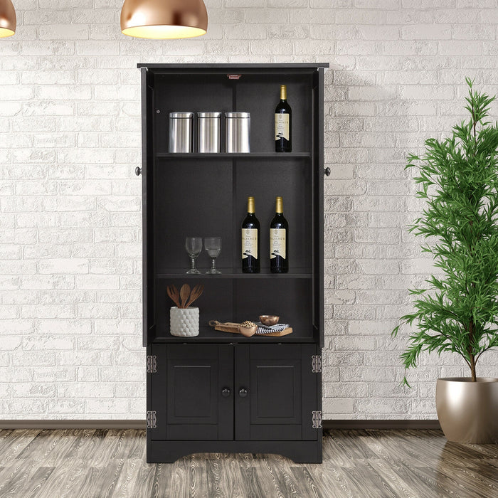 Accent Storage Cabinet w- Adjustable Shelves