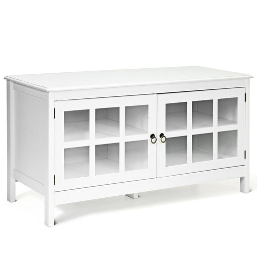 "50"" TV Stand Modern Wood Storage Console with 2 Doors"