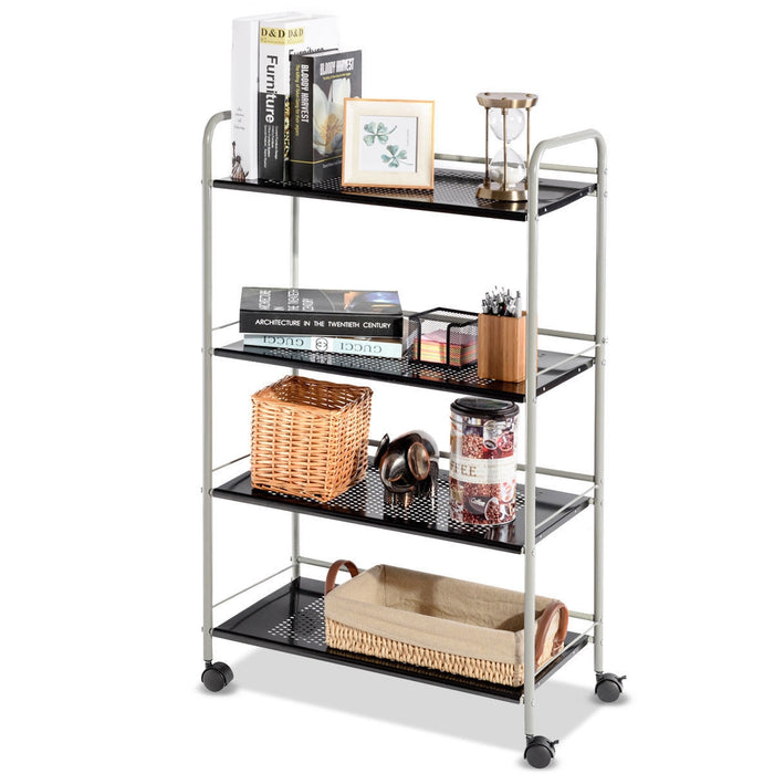 4 Tiers Rolling Storage Cart Utility Trolley