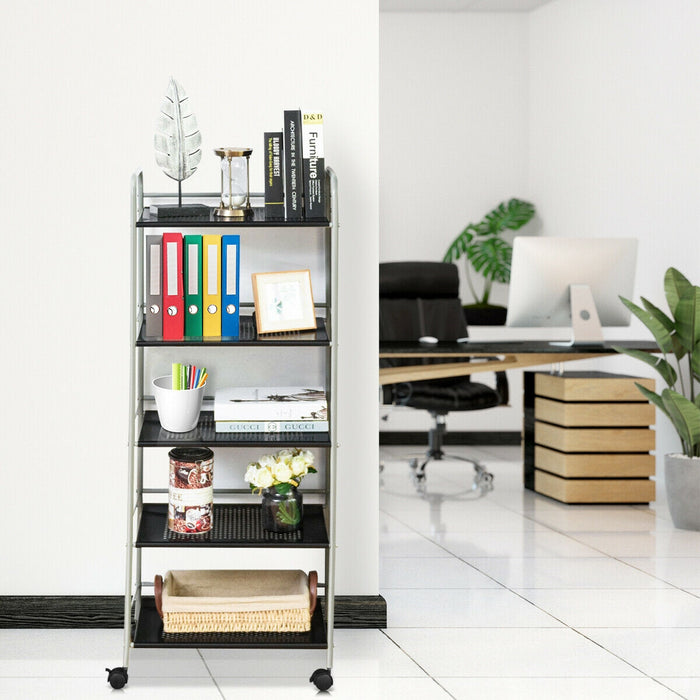 5 Tiers Storage Cart Rack Utility Shelf