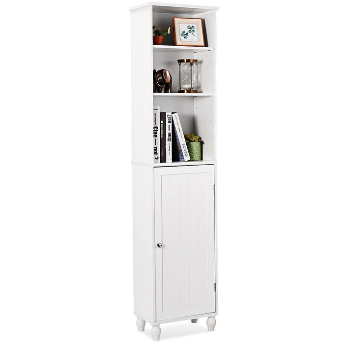 Bathroom Tower Storage Shelving Display Cabinet