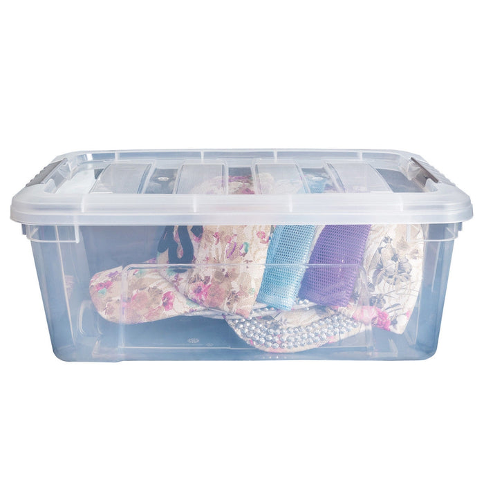 Sturdy Plastic Latch Stack Storage Tubs Box