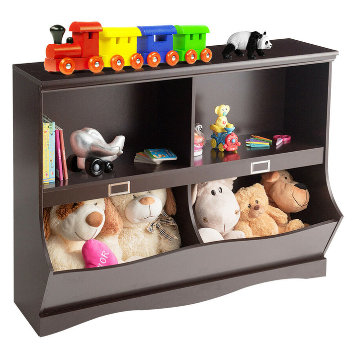 Kids Storage Unit Baby Toy Organizer Children Bookshelf Bookcase
