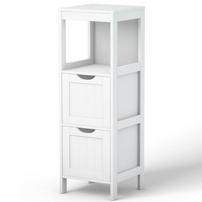 Bathroom Multifunctional Storage Floor Cabinet with 2 Drawers
