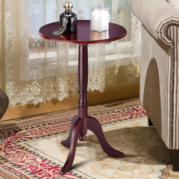 Classic Round Accent Table w- Simple Design