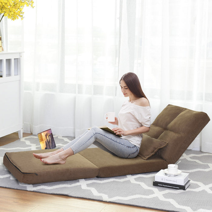 Fold Down Chair Flip Out Lounger w- Pillow
