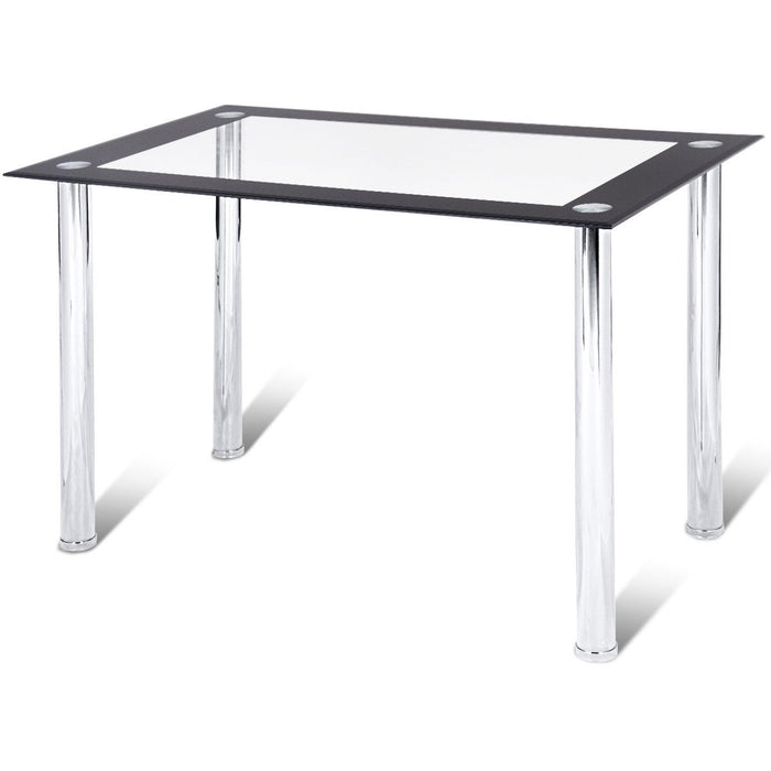 Modern Dining Kitchen Tempered Glass Table