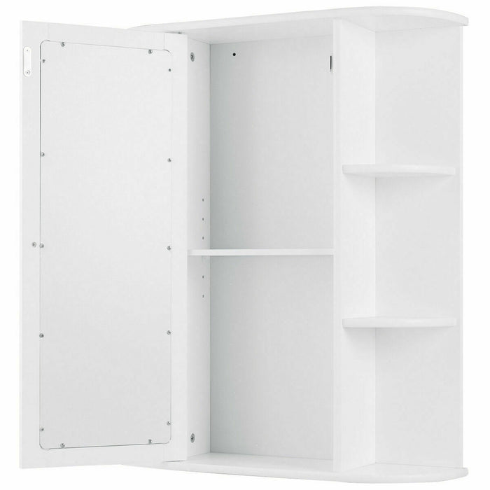 Bathroom Cabinet Single Door Shelves Wall Mount Cabinet