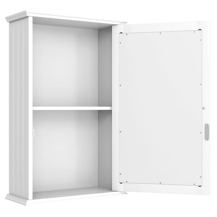 Bathroom Wall Cabinet with Single Mirror Door