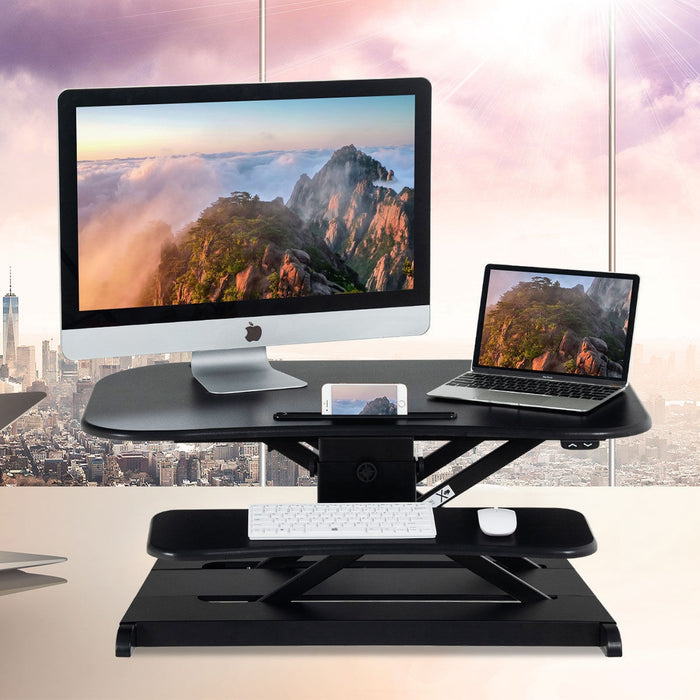 Height Adjustable Stand Riser Electric Standing Desk