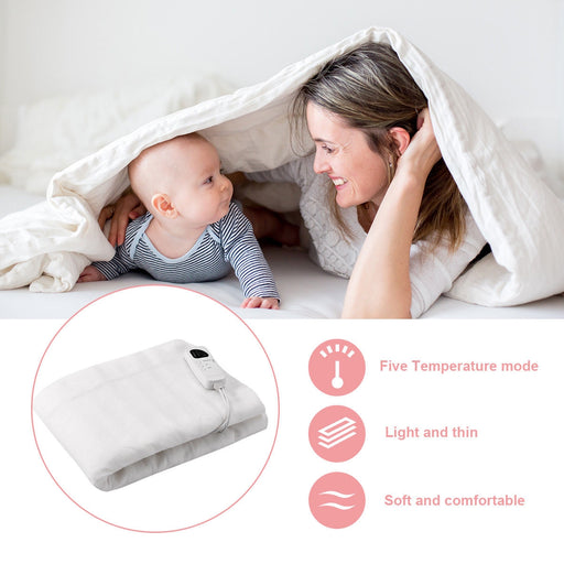 Electric Heated Blanket 5 Temperature Modes 8H Timer UL