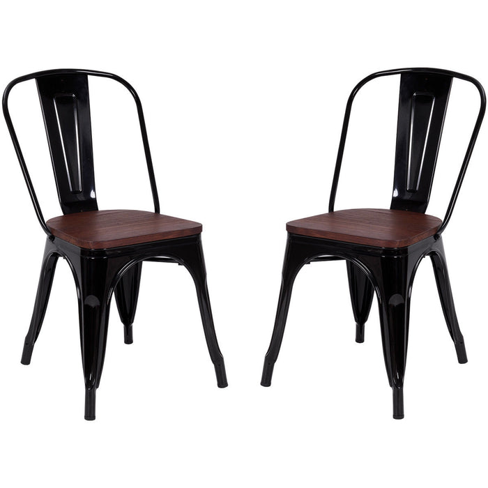 Set of 2 Tolix Style Dining Side Stackable Chair