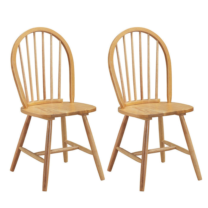 Set of 2 Vintage Winds Side Wood Chairs