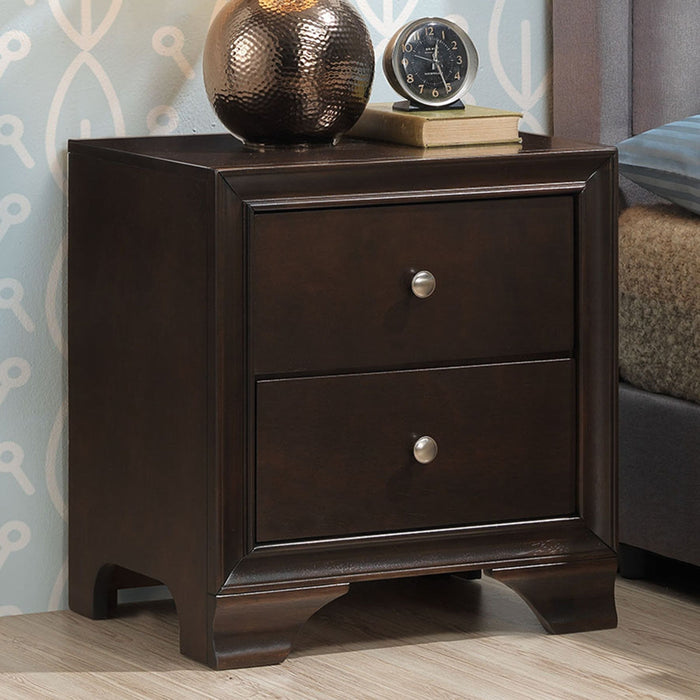 2 Drawer Storage Sofa Side Nightstand with USB Port