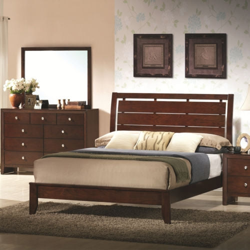 Home Furniture Bed Frame with Platform Wood Slats Headboard