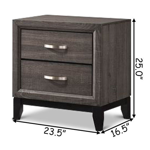 2 Drawers Storage Nightstand Sofa Side End Table