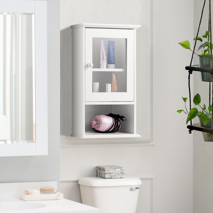 Bathroom Wall Mounted Adjustable Hanging Storage Medicine Cabinet