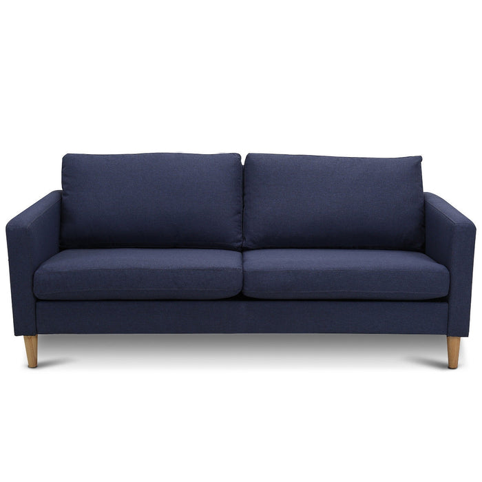 Upholstered Modern Fabric Love Seat Sofa