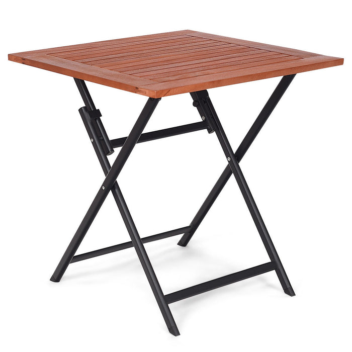 Patio Folding Table Square Dining Camping Picnic Table