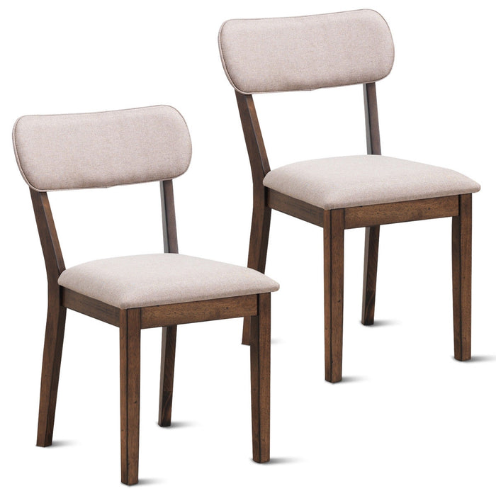 Set of 2 Armless Fabric Upholstered Dining Side Chairs