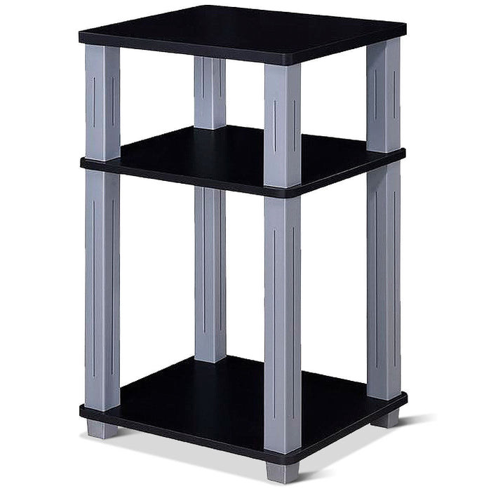 3 Tier End Table Multipurpose Shelf Night Stand Display Shelving
