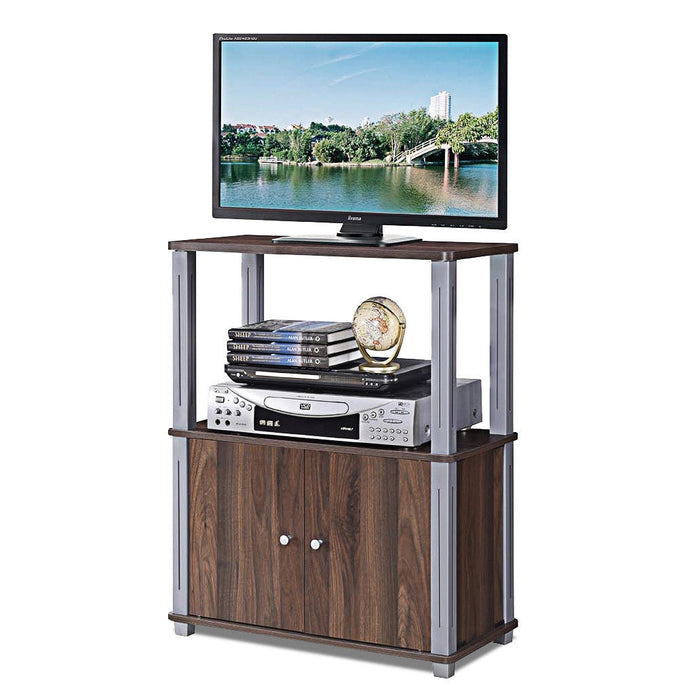 TV Stand Component Console Display Rack with Storage Cabinet
