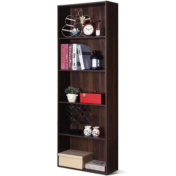 5-Shelf Storage Bookcase Modern Multi-Functional Display Cabinet