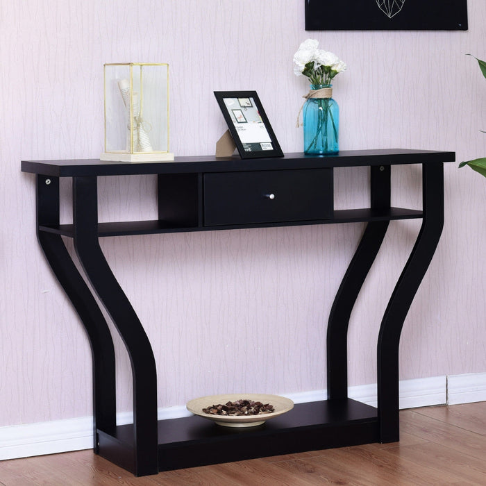 Modern Entryway Accent Console Table with Drawer
