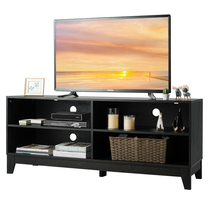 "58"" Modern Entertainment Media Center Wood TV Stand"