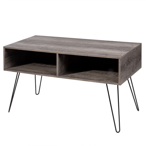 "42"" TV Stand Wood Media Console with Metal Hairpin Legs"