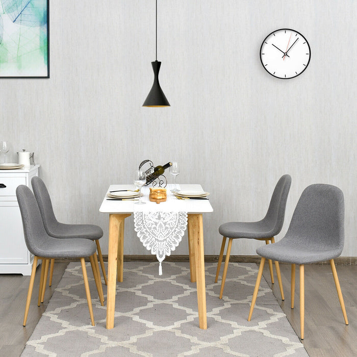 Set of 4 Gray Accent Dining Chairs