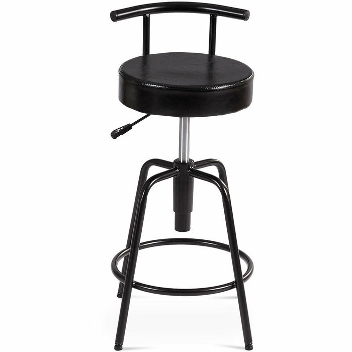 Adjustable Swivel Vintage Bar Stool PU Leather Steel Frame