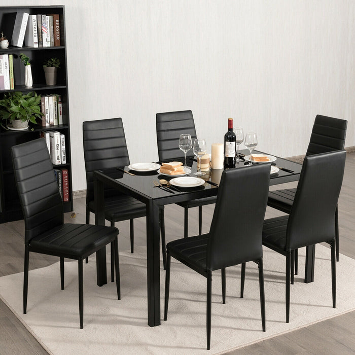 Set of 6 High Back Dining Chairs