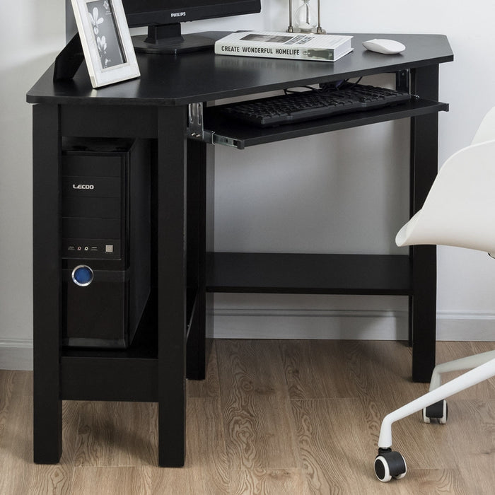 Wooden Study Computer Corner Desk with Drawer
