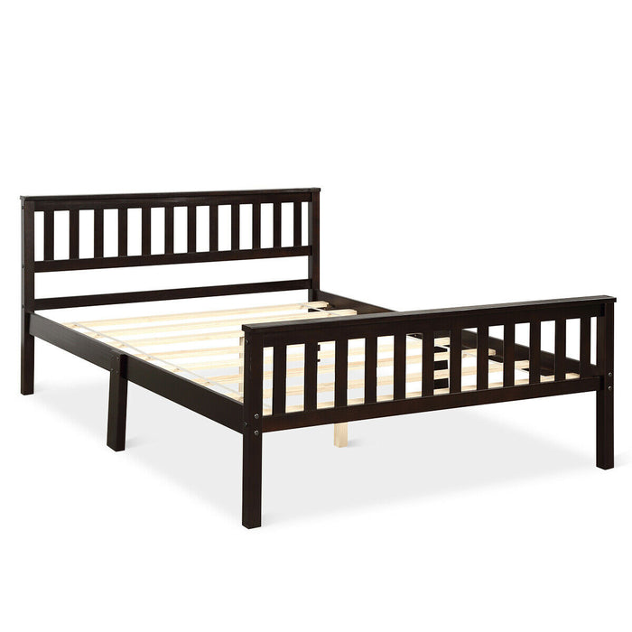 Wood Bed Frame Wood Slats Support Platform Full Size