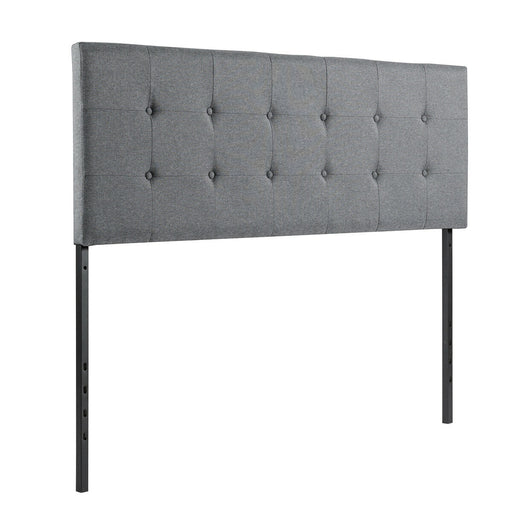 Adjustable Tufted Linen Fabric Upholstered Queen & Full Size Headboard
