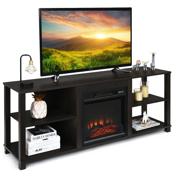 2-Tier TV Stand Storage Cabinet Console Adjustable Shelves
