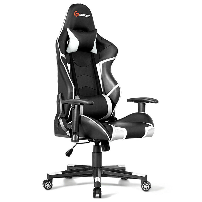 Lumbar Support  Massage Gaming Reclining Racing Chair