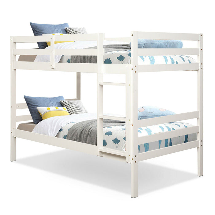 Twin Bunk Bed Children Wooden Bunk Beds Solid Hardwood